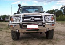 Custom Alloy Bullbar to suit 70 Series